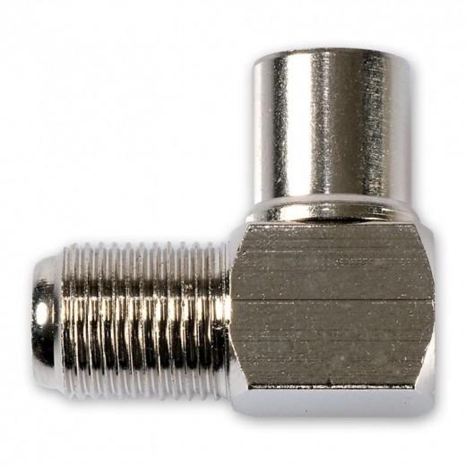 Fuba OVZ 069 (0,00m/Adapter) Winkeladapter F-Buchse / IEC-Stecker.