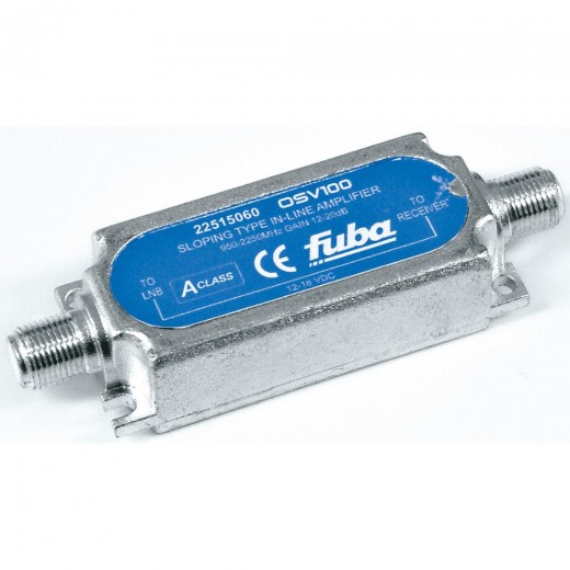Fuba OSV 100 Inline Satelliten-Verstärker | 12 bis 20 dB Verstärkung