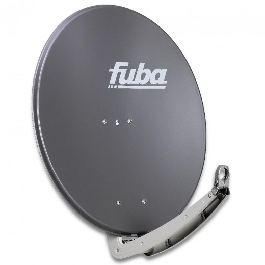 Fuba DAA 780 A Premium Aluminium Sat-Antenne anthrazit | 74 cm x 84 cm mit stabilem Doppeltragarm
