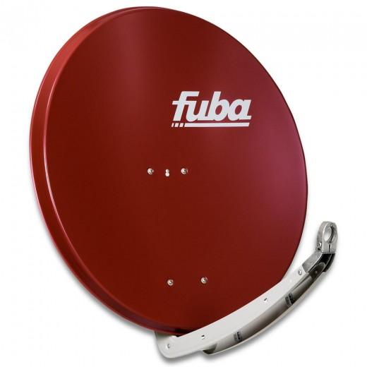 Fuba DAA 850 R Sat-Antenne ziegelrot | Alu Sat-Schüssel 85 cm mit Doppeltragarm