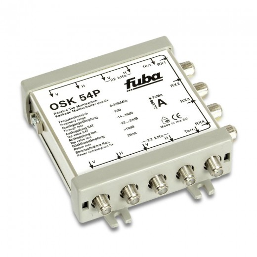 Fuba OSK 54 P Sat Multischalter Kaskade 5/5 passiv | 4 Teilnehmer | für OSV 505