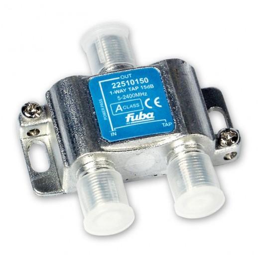 Fuba OHA 115 1-fach Abzweiger in horizontaler Bauform mit 15 dB Abzweigdämpfung