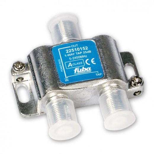 Fuba OHA 125 1-fach Abzweiger in horizontaler Bauform mit 25 dB Abzweigdämpfung