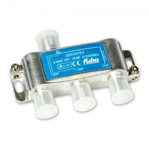 Fuba OHA 215 2-fach Abzweiger in horizontaler Bauform mit 15 dB Abzweigdämpfung