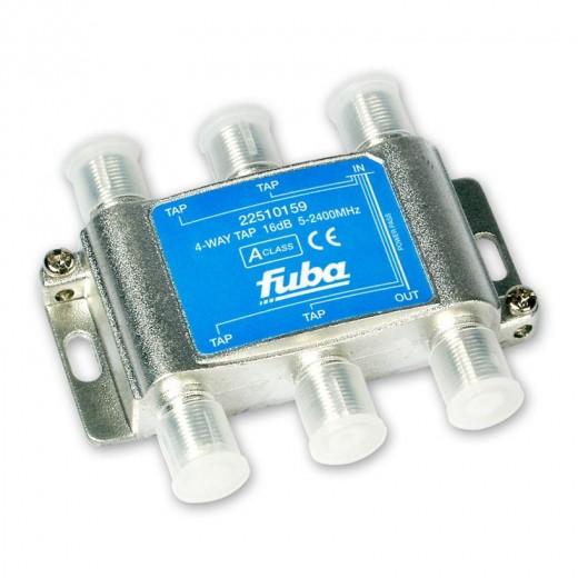Fuba OHA 416 4-fach Abzweiger in horizontaler Bauform mit 16 dB Abzweigdämpfung