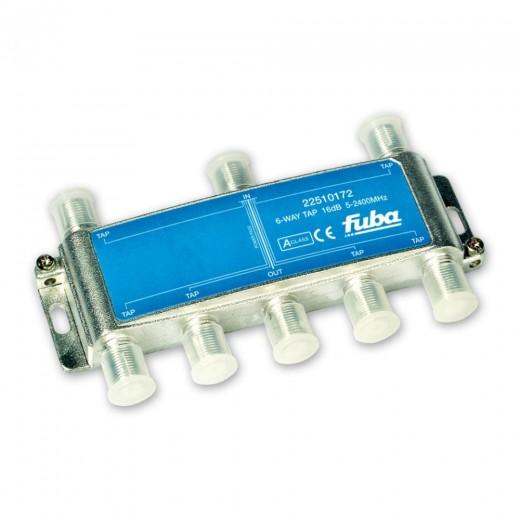 Fuba OHA 616 6-fach Abzweiger in horizontaler Bauform mit 18 dB Abzweigdämpfung