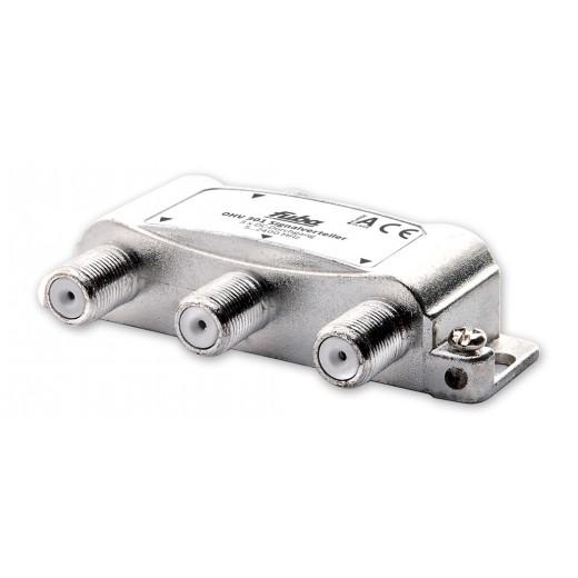 Fuba OHV 301 Sat-Verteiler 3-fach | Sat & BK Verteiler, DC-Durchlass, Unicable-tauglich [geeignet für Satellitenanlagen (DVB-S/DVB-S2), BK-Anlagen (DVB-C) und terrestrischen Empfang (UKW, DAB+, DVB-T)