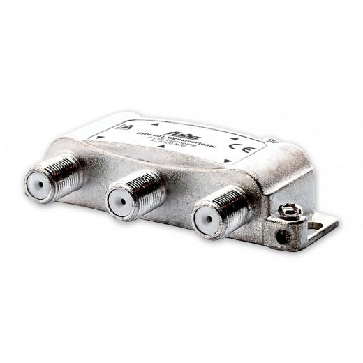 Fuba OHV 401 Sat-Verteiler 4-fach | Sat & BK Verteiler, DC-Durchlass, Unicable-tauglich [geeignet für Satellitenanlagen (DVB-S/DVB-S2), BK-Anlagen (DVB-C) und terrestrischen Empfang (UKW, DAB+, DVB-T)