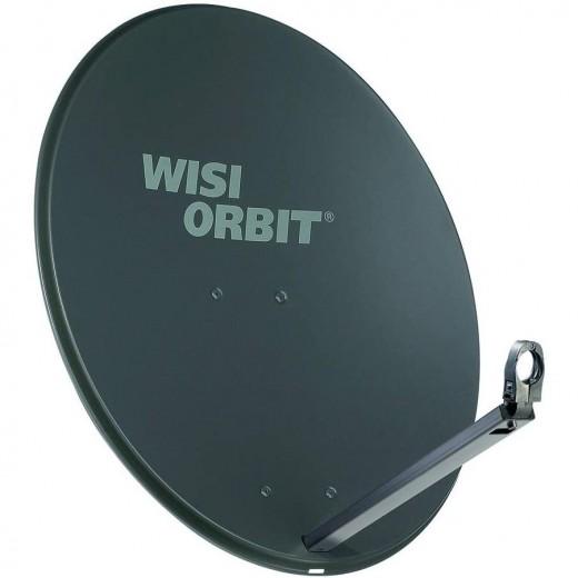 WISI OA 38H Sat-Schüssel 80cm Aluminium basaltgrau Orbit Line | Offset Sat Antenne