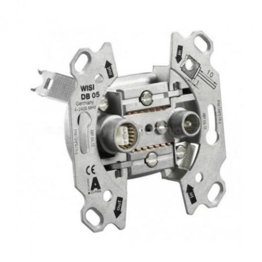 Wisi DB 05  2-Loch Durchgangsdose,10dB,5-2400MHz