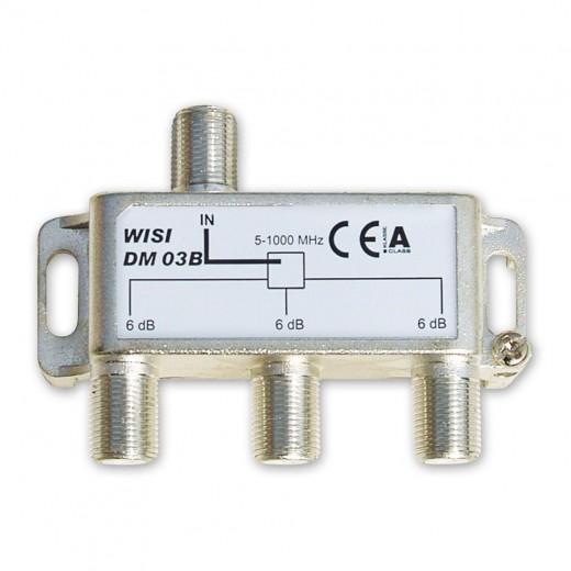 Wisi DM 03 B 3-fach BK-Verteiler 5-1000 MHz mit 5,9 dB Verteildämpfung