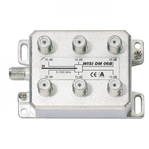 Wisi DM 06 B 6-fach BK-Verteiler 10 dB Verteildämpfung