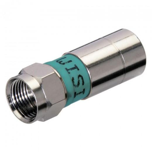Wisi DV 15 F-Kompressionsstecker 6,5mm grüner Ring