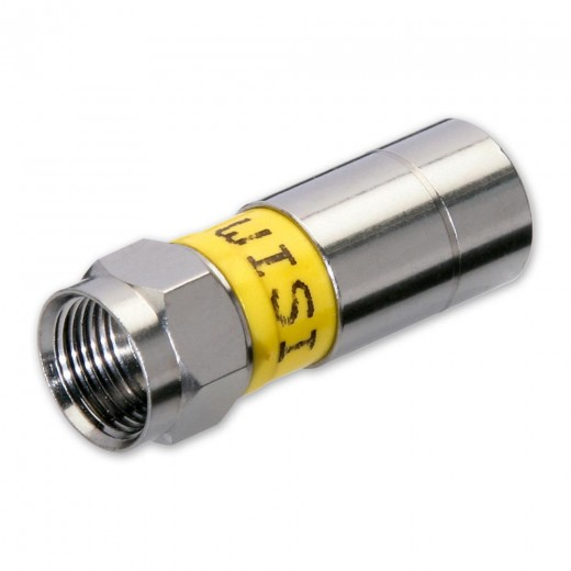 Wisi DV 15N F-Kompressionsstecker NiTin-Beschichtung für Koax-Kabel MK90/95/96