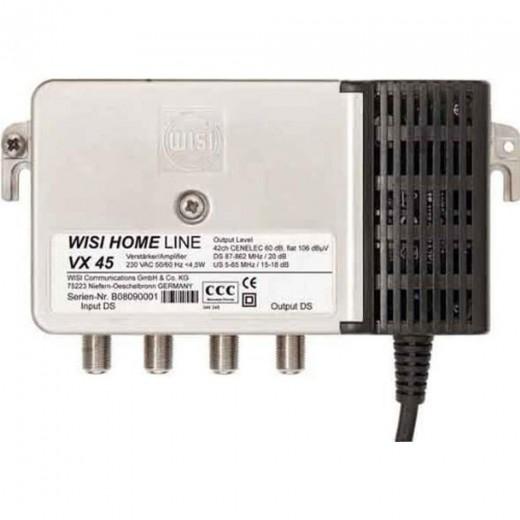 Wisi VX 45 D 3830 Hausanschlussverstärker 38 dB Verstärkung mit aktivem Rückweg