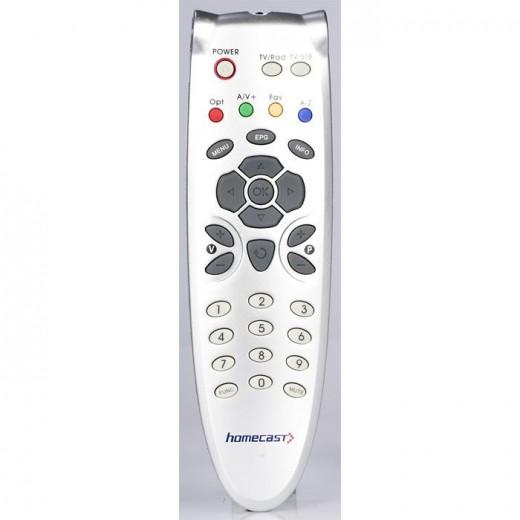 Homecast 5500002 Fernbedienung Original-Fernbedienung für S3000, T3000, S5000CI, HDSuisse, HS5101 und HS5101CI Receiver