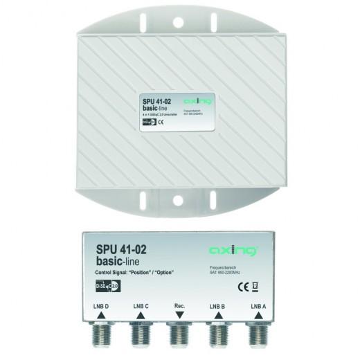 Axing SPU 41-02 DiSEqC-Umschalter,4/1,Wetterschutz