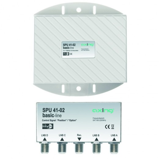 Axing SPU 41-02 Sat Umschalter 4 in 1 | DiSEqC mit Wetterschutz
