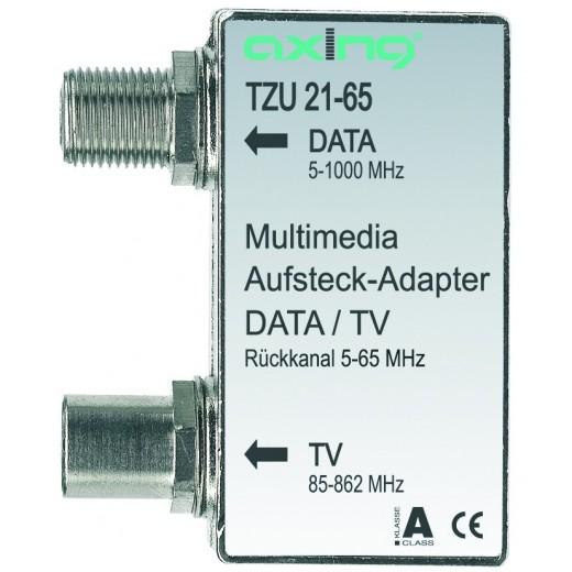 Axing TZU 21-65 Multimedia-Aufsteckadapter | Verteiler für Kabelmodem und TV