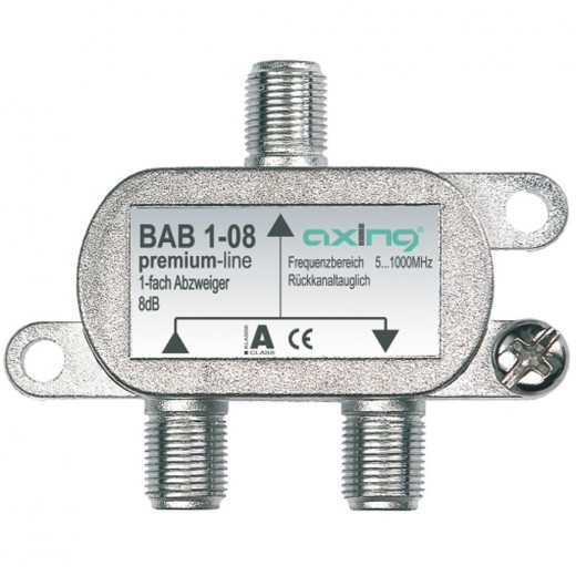 Axing BAB 1-12 Abzweiger   1-fach, 12dB, premium-line