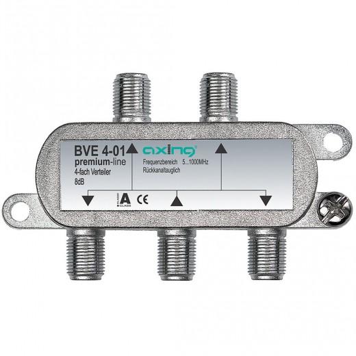 Axing BVE 4-01 BK 4-fach Verteiler | 5-1000 MHz
