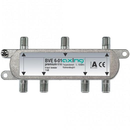 Axing BVE 6-01 BK 6-fach Verteiler | 5-1000 MHz