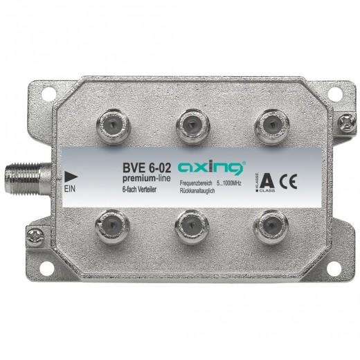 Axing  BVE 6-02 BK-6fach Verteiler, 5-1000 MHzZ