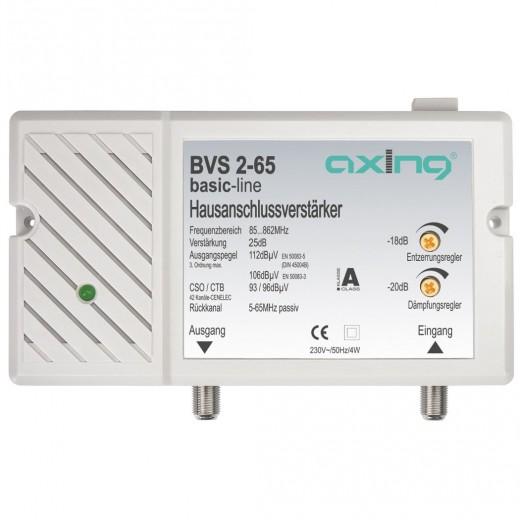Axing  BVS 2-65 BK-Verstärker,25 dB,RK 5-65MHz