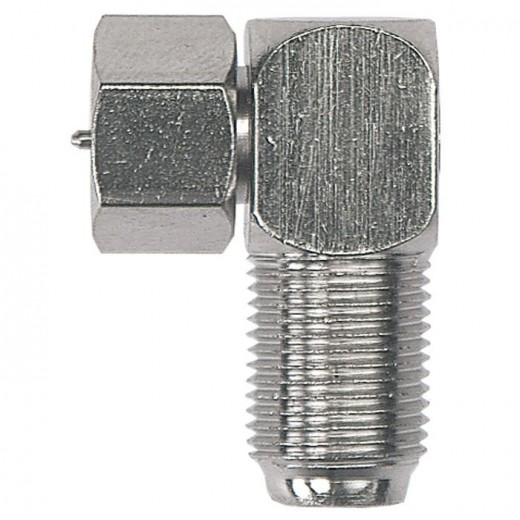 Axing CFA 6-02 Adapter F-Buchse auf F-Stecker | abgewinkelt
