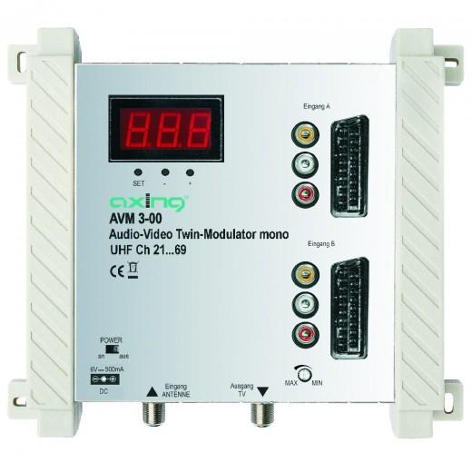 Axing AVM 3-00 Twin AV-Modulator,Mono,UHF/VHF