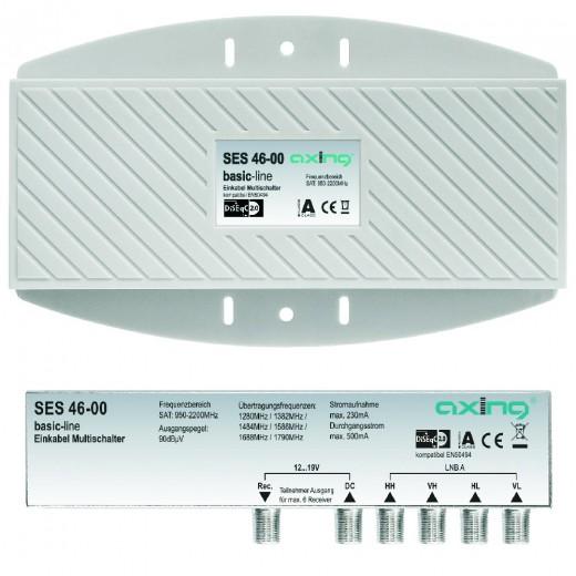 Axing SES 46-00 Einkabel-Multischalter für max. 6 Receiver