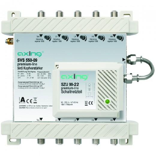 Axing SVS 550-09 Kopfverstärker 5/5 für SPU 5x-09/SES5x-09-Systeme