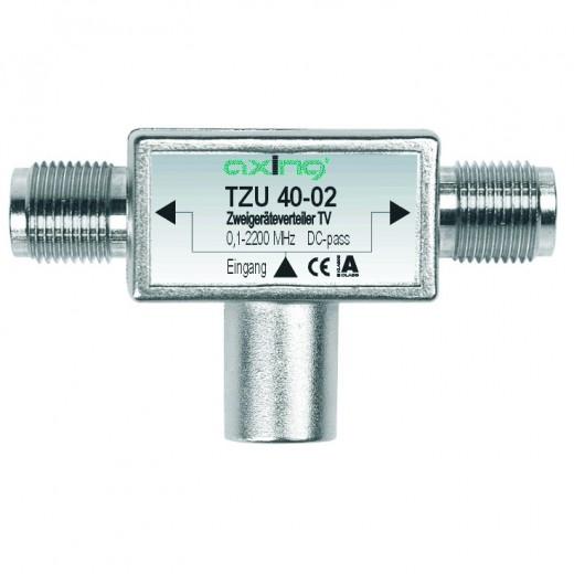 Axing TZU 40-02 2-Fach Verteiler Sat (0,1 bis 2200 MHz) für Sat-Anschluss