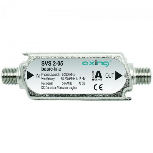 Axing SVS 2-05 Inlineverstärker | 10dB, 87-2200 MHz, Rückkanal 5-65MH