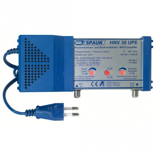 Spaun HNV 30 UPE Hausanschluss-Verstärker 30 dB | ohne Rückkanal, Verstärkung regelbar