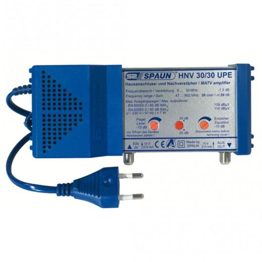 Spaun HNV 30/30 UPE BK-Verstärker 30 dB | passiver Rückweg, Verstärkung regelbar