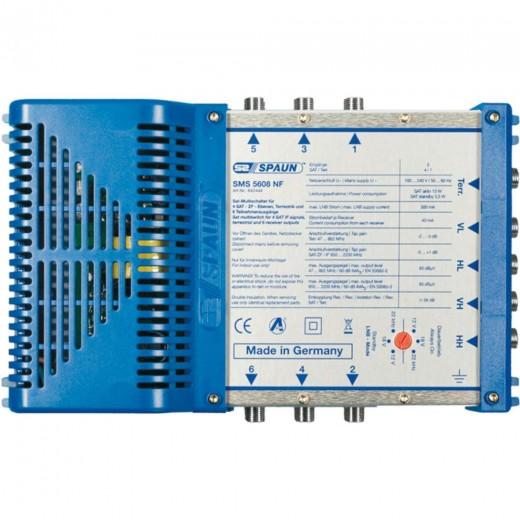 Spaun SMS 5608 NF Kompakter Multischalter mit aktiver Terrestrik für 6 Teilnehmer.