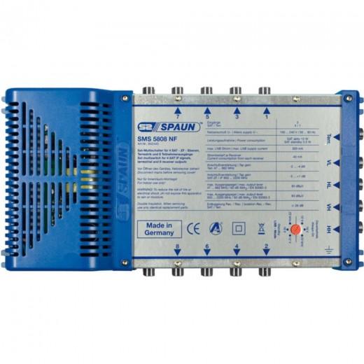Spaun SMS 5808 NF Kompakter Multischalter mit aktiver Terrestrik für 8 Teilnehmer.