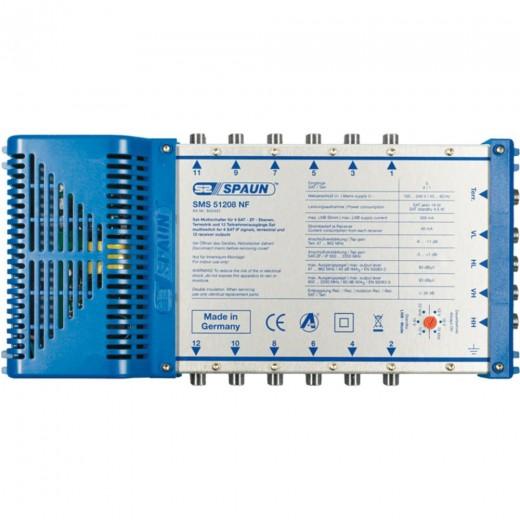 Spaun SMS 51208 NF Kompakter Multischalter mit aktiver Terrestrik für 12 Teilnehmer.
