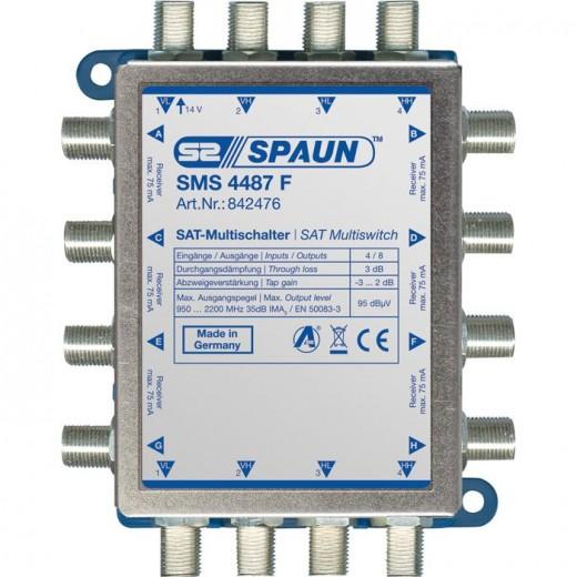 Spaun SMS 4487 F Kompakt-Multischalter kaskadierbar 8 Teilnehmer