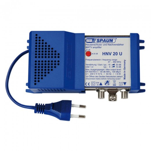 Spaun HNV 20U Hausanschluss- und Nachverstärker mit 10 bis 20 dB Verstärkung