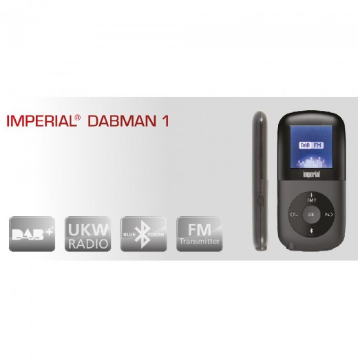 Imperial Dabman 1  22-101-00 mobiles DAB+/UKW-Radio,BT,FM-Transmitter