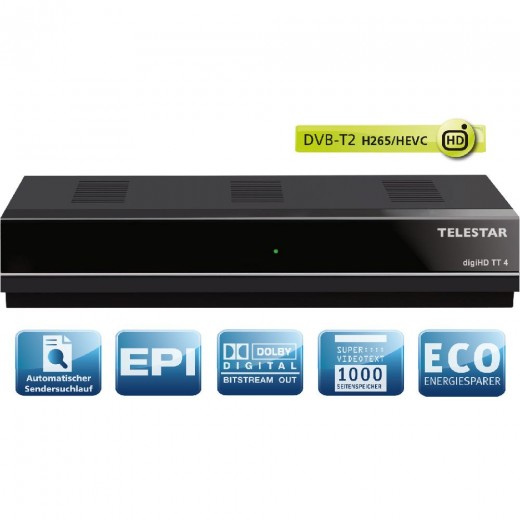 Telestar DigiHD TT4 DVB-T2 HD Receiver