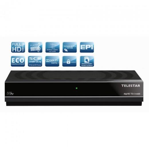Telestar DigiHD TS4 mobil DVB-S2 Receiver,12V/220V