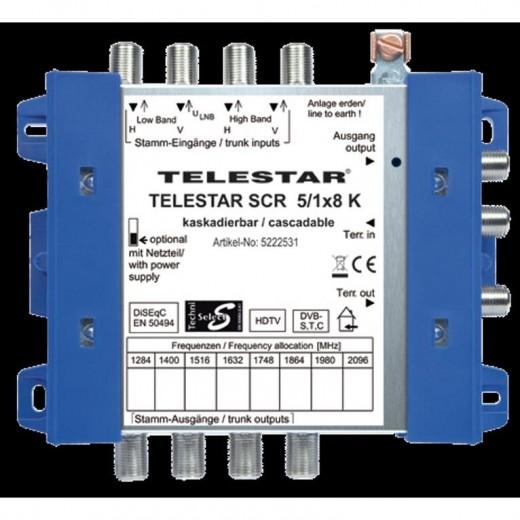 Telestar SCR 5/1x8 K Einkabel-Kaskade für 8 Teilnehmer