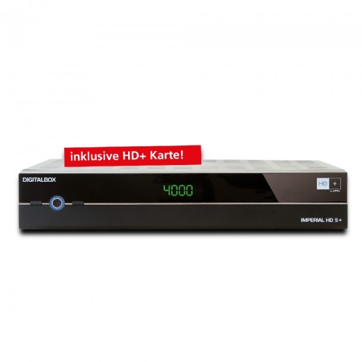 Imperial HD5+ 77-553-00 DVB-S2 Rec.,schwarz, incl.HD+ Karte 6 Monate