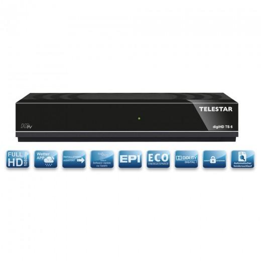 Telestar DigiHD TS6 DVB-S2 Receiver | HDMI, Scart
