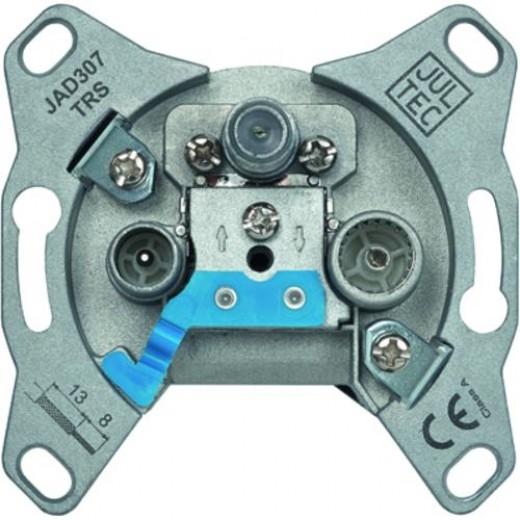 Jultec JAD 307 TRS 3-Loch Sat-Enddose | 7 dB Anschlussdämpfung, DC-Durchlass