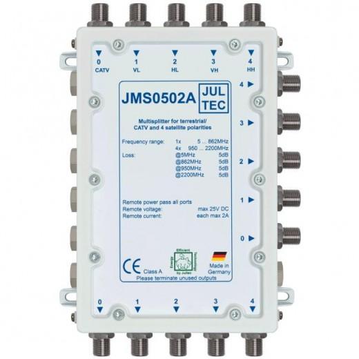 Jultec  JMS 0502A Mehrfach-Verteiler, 5/2x5