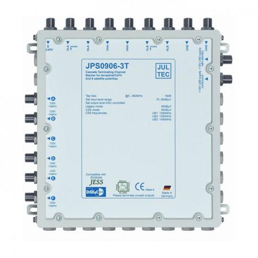 Jultec JPS0906-3T Einkabelumsetzer | 2 Satelliten | bis zu 18 Teilnehmer | Endkaskade